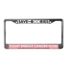 Save the BOOBies License Plate Frame