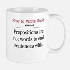 Prepositions - Mug