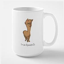 Standing Brown Alpaca Mug