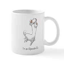 Bouncing White Alpaca Mug