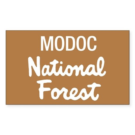 Modoc National Forest (Sign) Rectangle Sticker