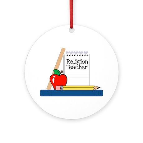Religion Teacher (Notebook) Ornament (Round)