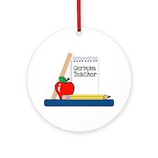 German Teacher (Notebook) Ornament (Round)