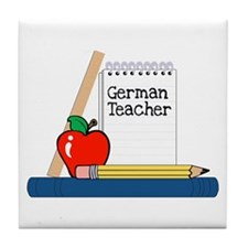 German Teacher (Notebook) Tile Coaster