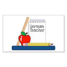 German Teacher (Notebook) Rectangle Decal