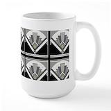 Art deco Large Mugs (15 oz)