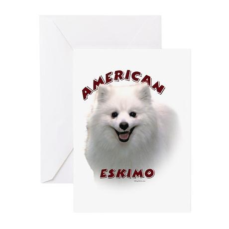 American Eskimo Greeting Cards (Pk of 10)