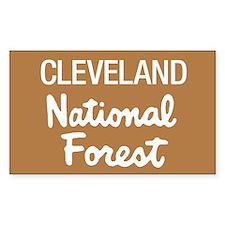 Cleveland National Forest (Sign) Sticker (Rectangu