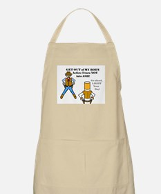 GET OUT OF MY BODY (CIGARETTES) BBQ Apron