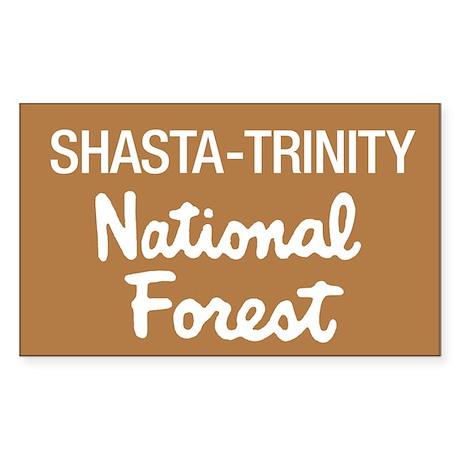 Shasta-Trinity National Forest (Sign) Sticker (Rec