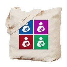 Pop Breastfeeding Icon Tote Bag