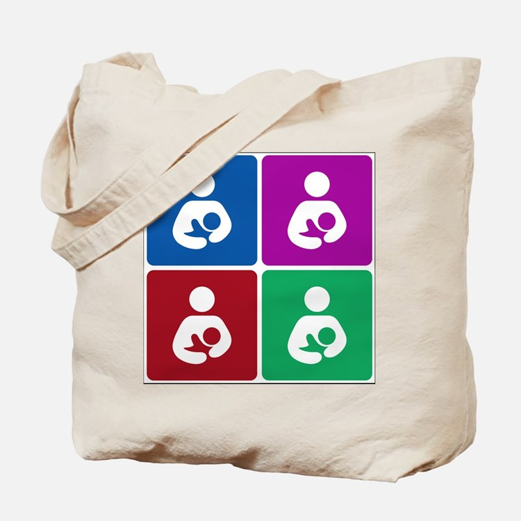 Pop Breastfeeding Icon Tote Bag