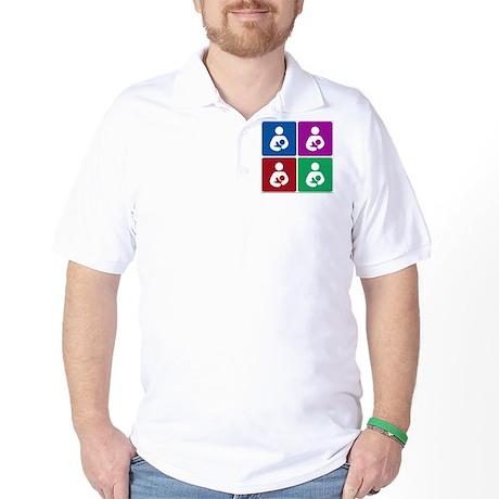 Pop Breastfeeding Icon Golf Shirt