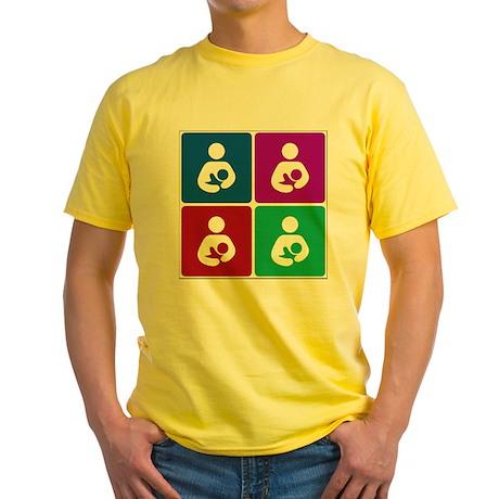 Pop Breastfeeding Icon Yellow T-Shirt