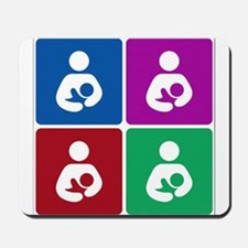 Pop Breastfeeding Icon Mousepad