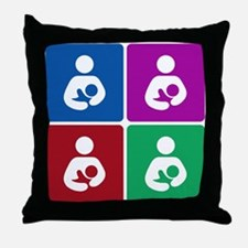 Pop Breastfeeding Icon Throw Pillow