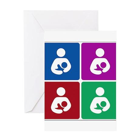 Pop Breastfeeding Icon Greeting Card