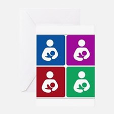 Pop Breastfeeding Icon Greeting Card