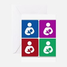 Pop Breastfeeding Icon Greeting Cards (Pk of 10)