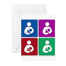 Pop Breastfeeding Icon Greeting Cards (Pk of 20)