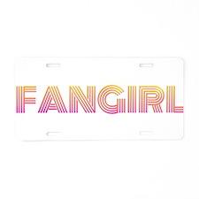 Geeky Fangirl Aluminum License Plate