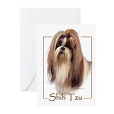 Shih Tzu-2 Greeting Cards (Pk of 10)