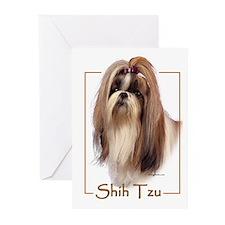 Shih Tzu-2 Greeting Cards (Pk of 10)