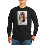Shih Tzu-2 Long Sleeve Dark T-Shirt