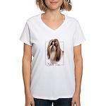 Shih Tzu-2 Women's V-Neck T-Shirt