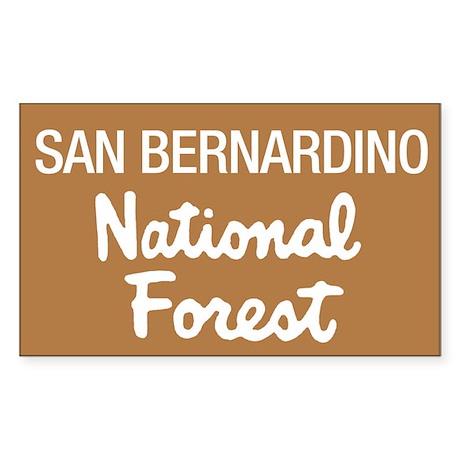 San Bernardino National Forest (Sign) Sticker (Rec