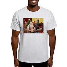 Santa's Havanese Puppy T-Shirt