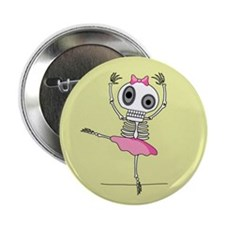 Skeleton Ballerina Button