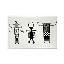 Petroglyph Peoples II Rectangle Magnet