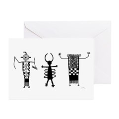 Petroglyph Peoples II Greeting Cards (Pk of 10)