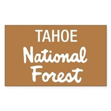 Tahoe National Forest (Sign) Rectangle Decal
