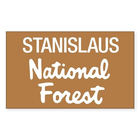 Stanislaus National Forest (Sign) Sticker (Rectang