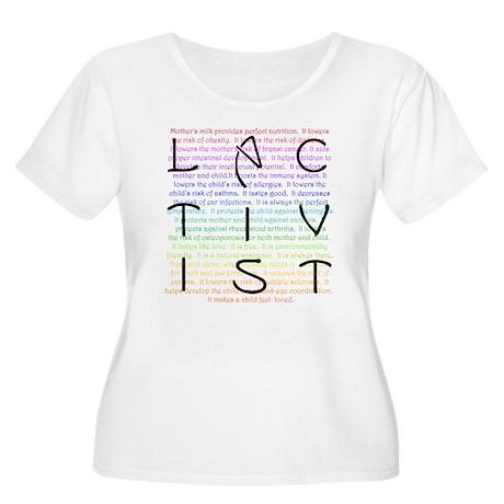 Lactivist Women's Plus Size Scoop Neck T-Shirt