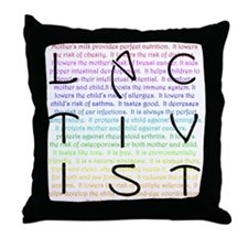 Lactivist Throw Pillow