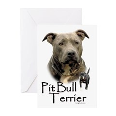 Pit Bull Terrier Greeting Cards (Pk of 20)