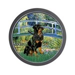 Bridge / Rottie Wall Clock