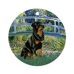 Bridge / Rottie Ornament (Round)
