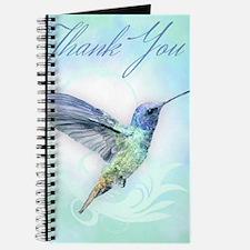 Thank You - Watercolor Humming Bird Print Journal