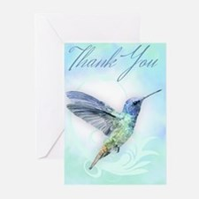 Thank You, Hummingbird Greeting Cards (pk Of 10)