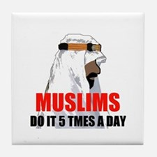 MUSLIMS DO IT Tile Coaster