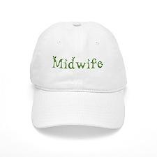 Midwife White Green Baseball Cap