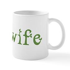 Midwife White Green Mug