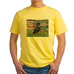 Lilies2/Rottweiler Yellow T-Shirt