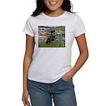 Lilies2/Rottweiler Women's T-Shirt