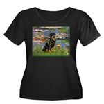Lilies2/Rottweiler Women's Plus Size Scoop Neck Da