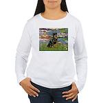 Lilies2/Rottweiler Women's Long Sleeve T-Shirt